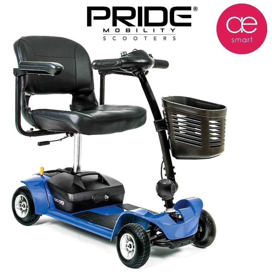Elektriskais mobilitātes skūteris PRIDE GO GO Ultra X cilvēkiem ar īpašām vajadzībām, 4 riteņi, 12Ah