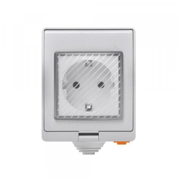 Sonoff S55 āra virsapmetuma viedā rozete / slēdzis, WiFi, ūdens izturīgs IP55, 230VAC 16A