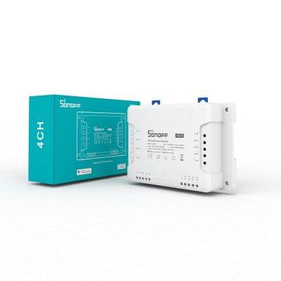 Sonoff 4CH R2 4-kanālu viedais slēdzis / Wi-Fi / RF / 230VAC / 10A 2200W uz kanālu