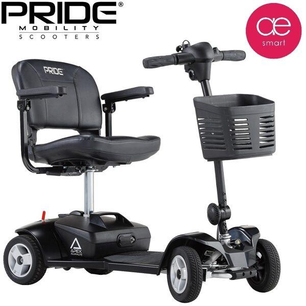 Elektriskais mobilitātes skūteris PRIDE GO GO Apex AlumaLite cilvēkiem ar īpašām vajadzībām, 4 riteņi, 17Ah