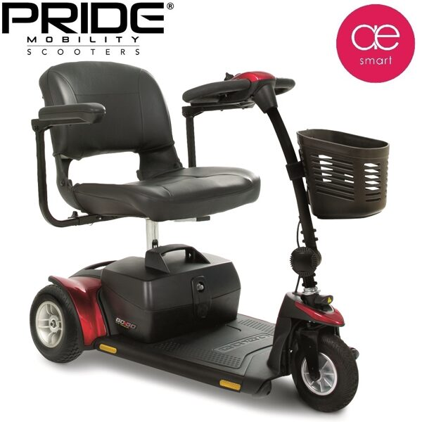 Electric mobility scooter GO GO ELITE TRAVELLER® PLUS for people with special needs, 3 wheels, 17Ah